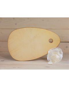 Holzbrett Esche oval groß