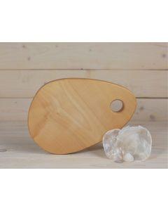 Holzbrett Esche oval klein