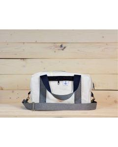 Handtasche weiß-blau