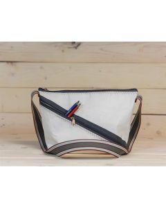 """Handtasche """"Erfde"""" weiß-grau-rot"""