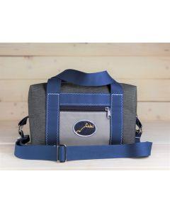 Handtasche grau-blau