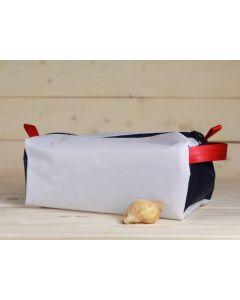 Kulturtasche weiß-blau-rot